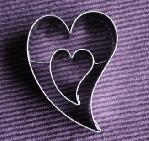 Hart in hart - uitsteekvormpje