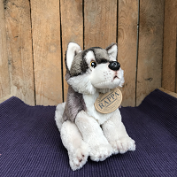 Wolf zittend - ca. 15 cm - TIJDELIJK NIET LEVERBAAR