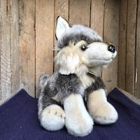 Wolf zittend - ca. 30 cm