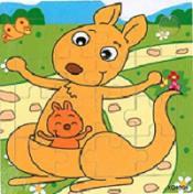 Puzzel kangoeroe met jong