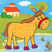 Puzzel paard