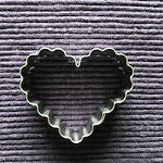 Hart met kartelrand - uitsteekvormpje