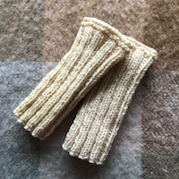 Polswarmers wol - naturelkleur - lengte ca. 19 cm