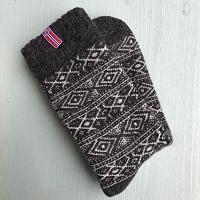Noorse wollen sokken, donkergrijs - maat 39-42