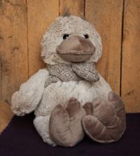 Eend met sjaal - ca. 22 cm